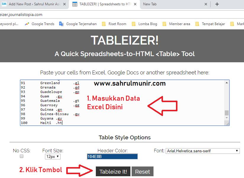 cara-memasukkan-data-excel-ke-website